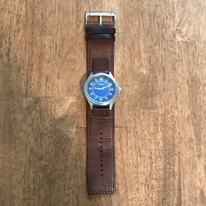 Men's Fossil Leather Watch